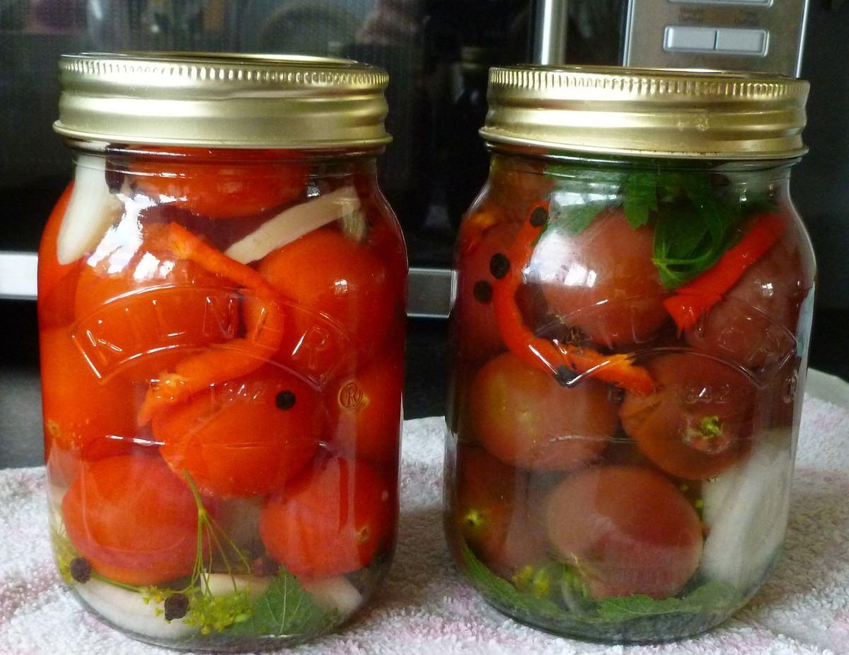 Рецепт помидор черри в литровых банках